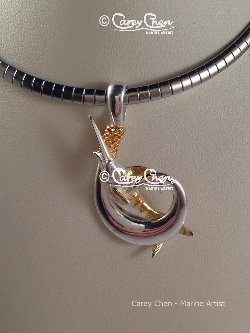 Marlin Circle Hook Pendant - Carey Chen